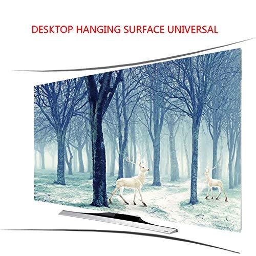 Lxxzz Curved TV Desktop Hanging Hood Tuch Staubdicht Sonnenschutz Professionelle Anpassung Fernseher 55 Zoll,50'
