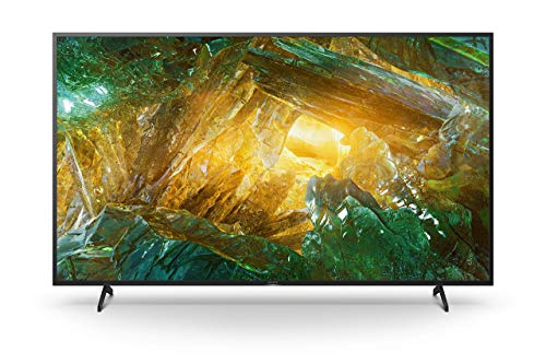 Sony KD-75XH8096 Bravia 190 cm (75 Zoll) Fernseher (Android TV, LED, 4K Ultra HD (UHD), High Dynamic Range (HDR), Smart TV, Sprachfernbedienung, 2020 Modell) Schwarz