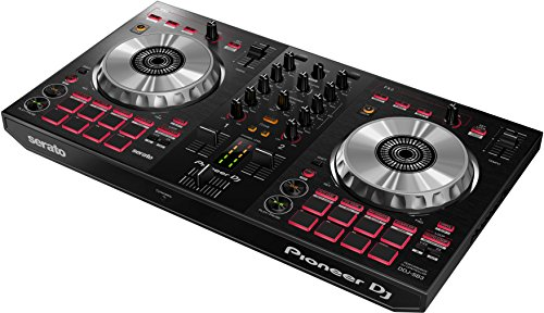 Pioneer DJ - 2-Kanal DJ-Controller für Serato DJ Lite - Mixer - DJ-Zubehör - Scratch Pad - Zwei große Aluminium-Jog Wheels