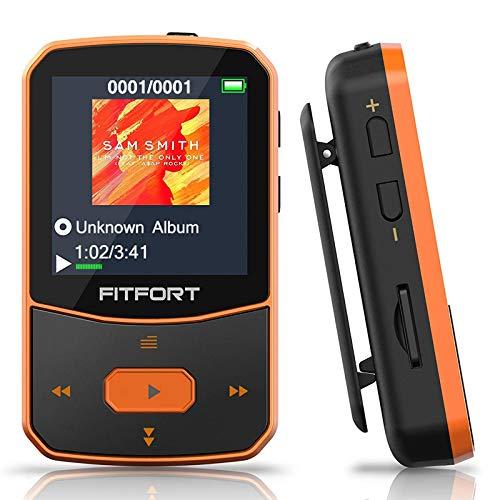 MP3 Player Bluetooth 5.0 Sport 16GB- Verlustfreier Sound FM Radio,Sprachaufzeichnung,E-Book und andere Funktionen,Unterstützt bis 128GB SD Karte (Kopfhörer,USB-Kabel im Lieferumfang Enthalten)