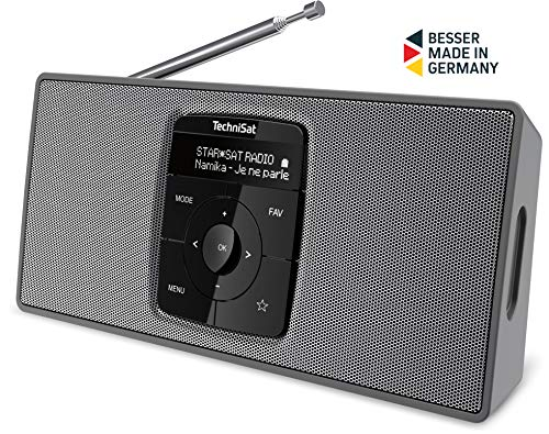 TechniSat DIGITRADIO 2 S – Tragbares DAB+/UKW-Stereo-Radio (mit Bluetooth Audiostreaming und hochwertigem OLED Display, Made in Germany)