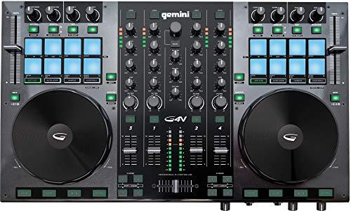 Gemini G4V - 4 Kanal DJ Controller mit Audio Interface - inkl. Virtual DJ LE